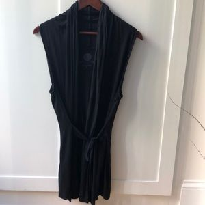 Deletta for Anthro sleeveless cardigan with tie